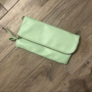 Sea foam green clutch. Charming Charlie.